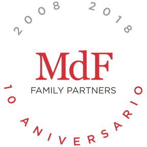 Logo 10th anniversary, MdF Family Office